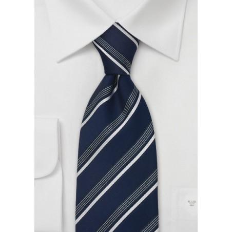 Sapphire Blue Striped Tie by Cavallieri