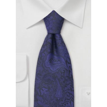 Indigo-Purple Paisley Tie