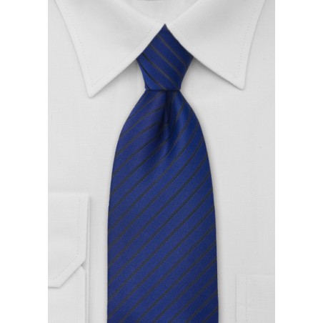 Striped Necktie in Egyptian Blue