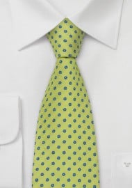 Spring-Green Floral Tie by Chevalier