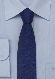 Skinny Tie in Black and Blue