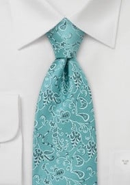 Floral Tie by Chevalier in Turquoise