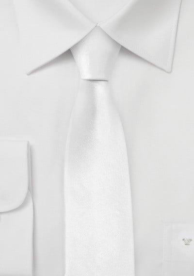 Trendy White Skinny Tie