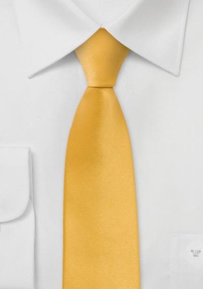 Bright Yellow Skinny Tie