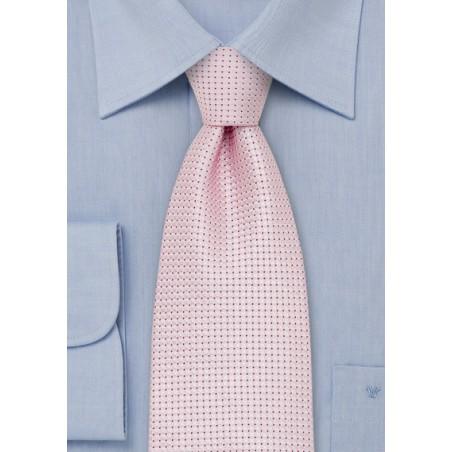 Silver Pink Silk Tie