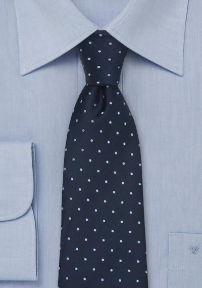 Navy Blue Polka Dot Tie by Chevalier