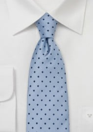 Light Blue Polka Dot Tie by Chevalier