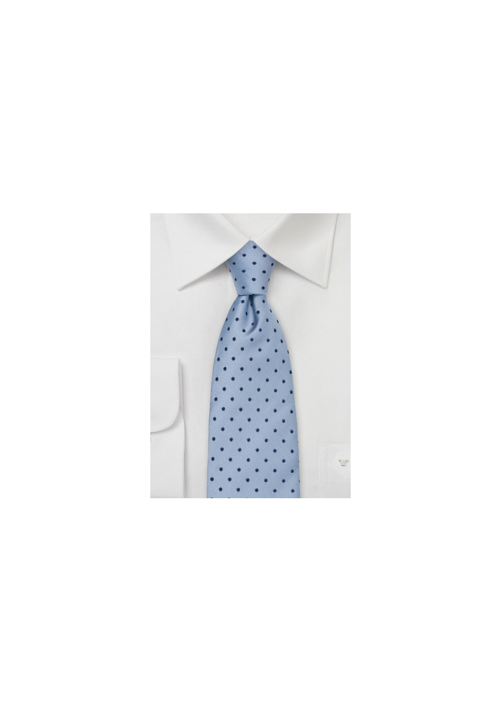 Light Blue Polka Dot Tie by Chevalier