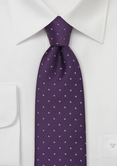 Dark Purple Polka Dot Tie