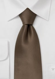 Solid Bronze Brown Silk Tie