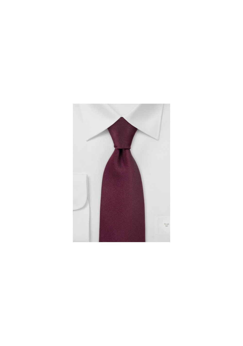 Solid Color Ties Burgundy Red