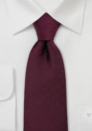 Solid Burgundy Polka Dot Tie