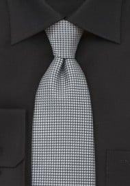 Platinum Silver Mens Silk Tie