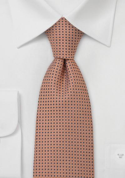Foulard Silk Tie in Pink Orange