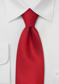 Bright Red Silk Tie for Kids