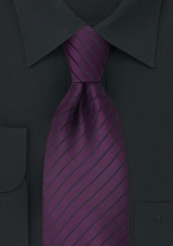 Purple and Black Kids Tie