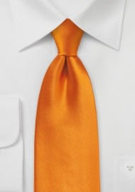 Bright Orange Necktie for Kids