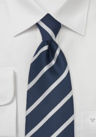 Classy Kids Tie in Navy and Silver