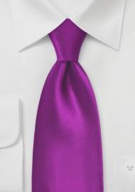 Kids Tie in Solid Dark Fuchsia Pink