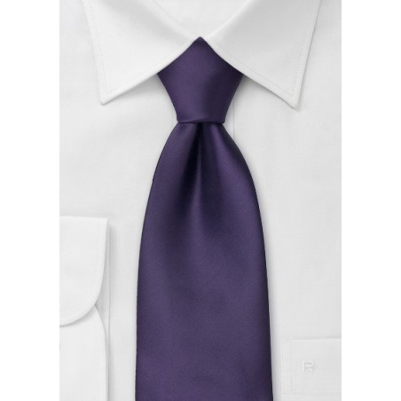 Solid Purple Kids Necktie
