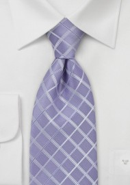 Light Purple Checkered Tie