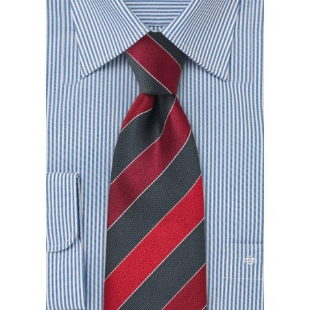 Gray and Cherry Red Necktie