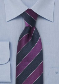 Necktie Midnight Blue Purple