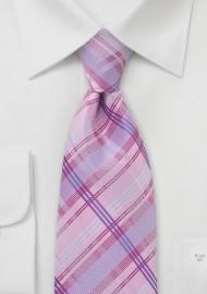 Pink Checkered Necktie