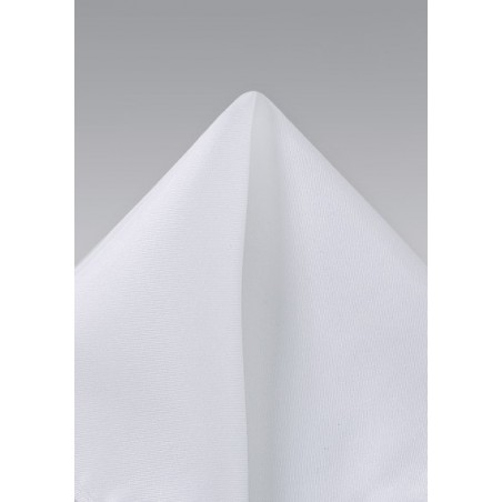 Bright White Silk Pocket Square