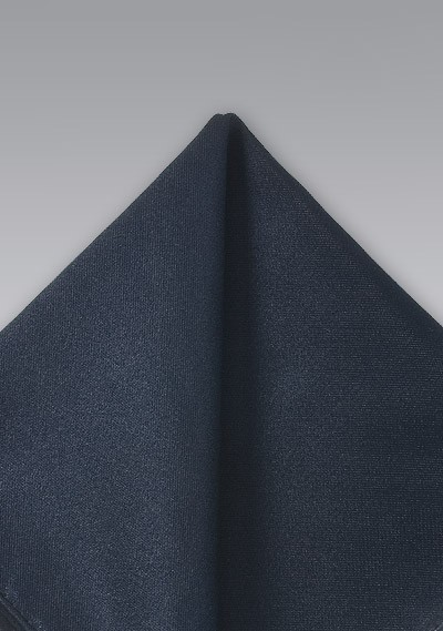 Charcoal Gray Silk Pocket Square