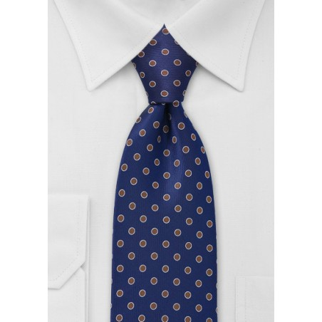 Navy and Copper Dotted Necktie