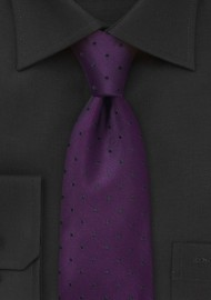 Eggplant Purple Polka Dot Tie