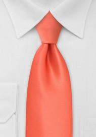 Dark Tangerine Orange Necktie