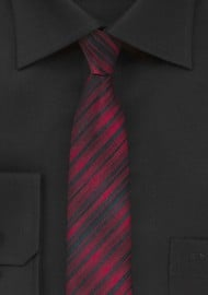 Skinny Tie in Apple Red