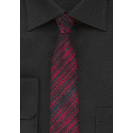 Skinny Tie in Apple Red