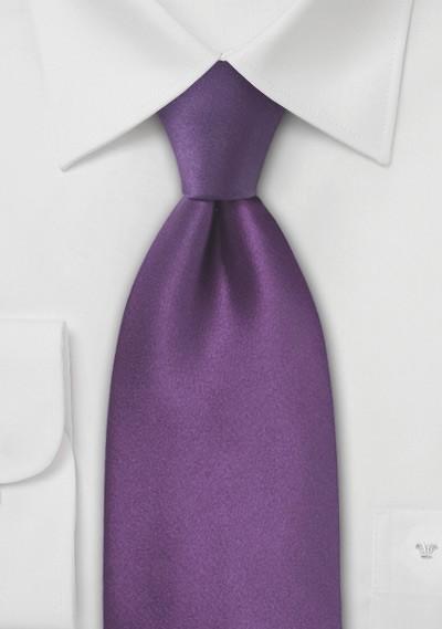 Violet Purple Silk Tie