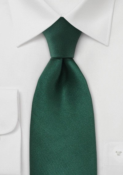 Solid Bright Hunter Green Silk Tie