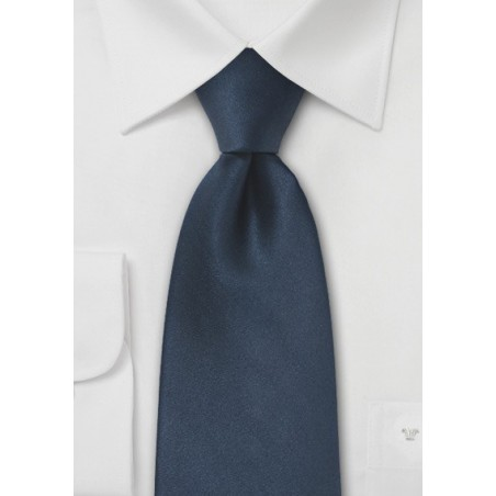 Dark Navy Blue Mens Silk Tie