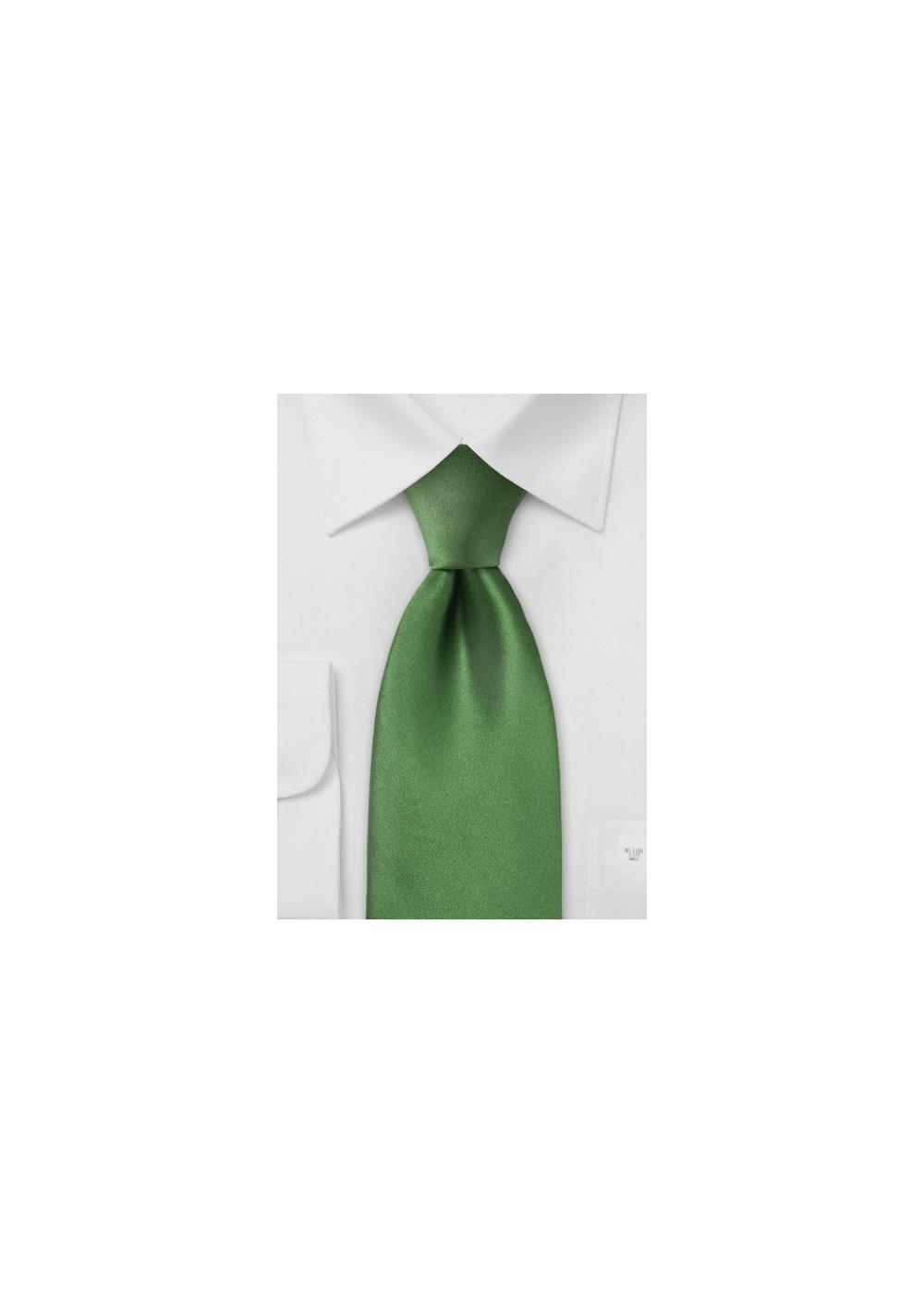 Rich Moss Green Silk Tie