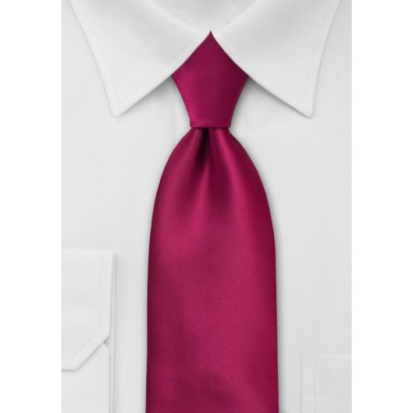 Solid Necktie in Christmas-Red