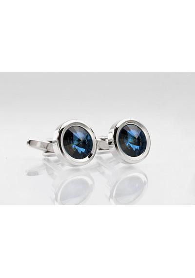 Cufflinks in Blue Diamond Look
