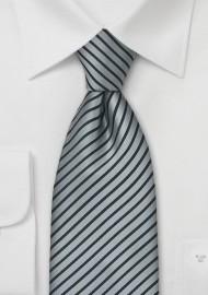 XL Silver and Black Tie
