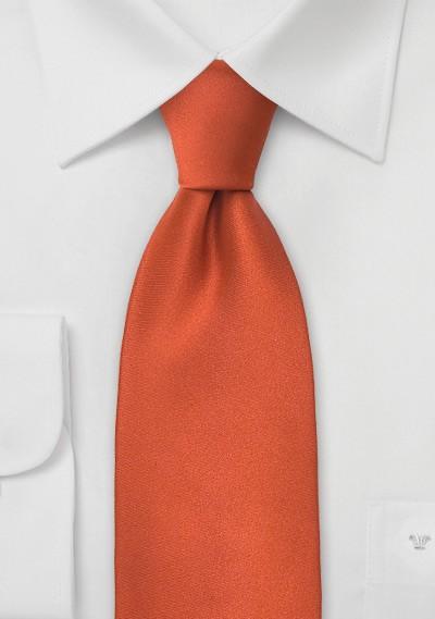 Solid Kids Tie in Persimmon-Orange