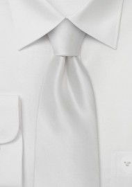 White Silk Tie in Kids Length
