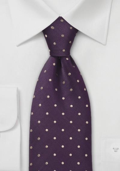 Eggplant Polka Dot Tie
