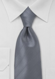 Smoke Gray Mens Tie