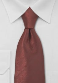 Bronze Red Mens Necktie