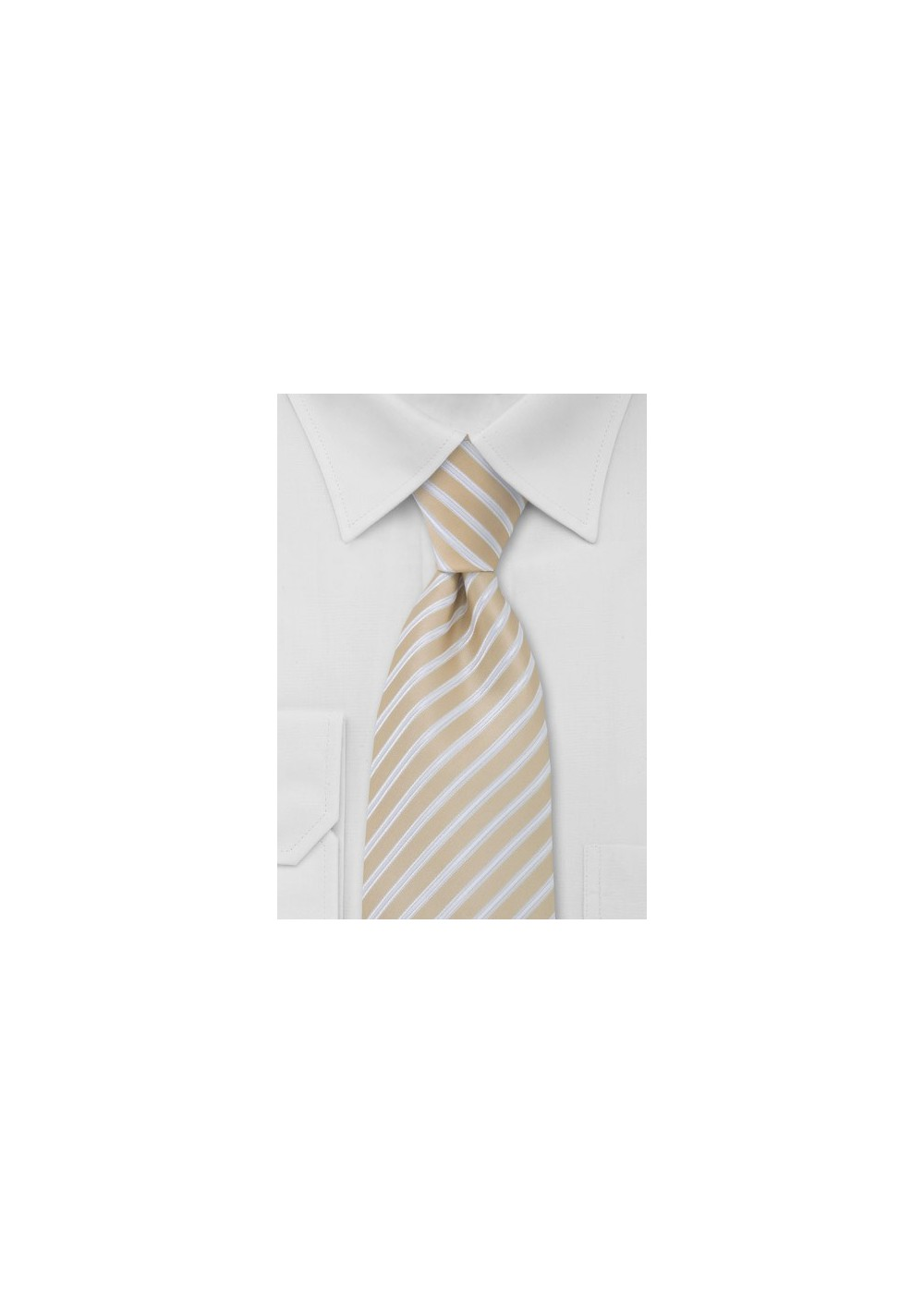 Wheat Tan Striped Tie