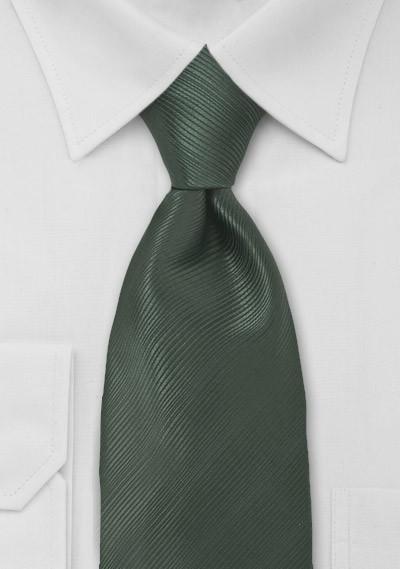 Elegant Dark Green Mens Tie