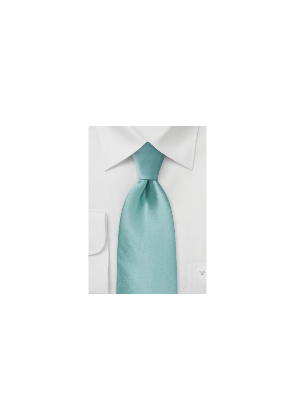 Light Mint Green Silk Tie